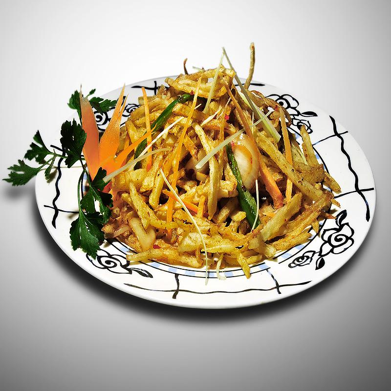 Mancare chinezeasca Cartofi pai cu chimen