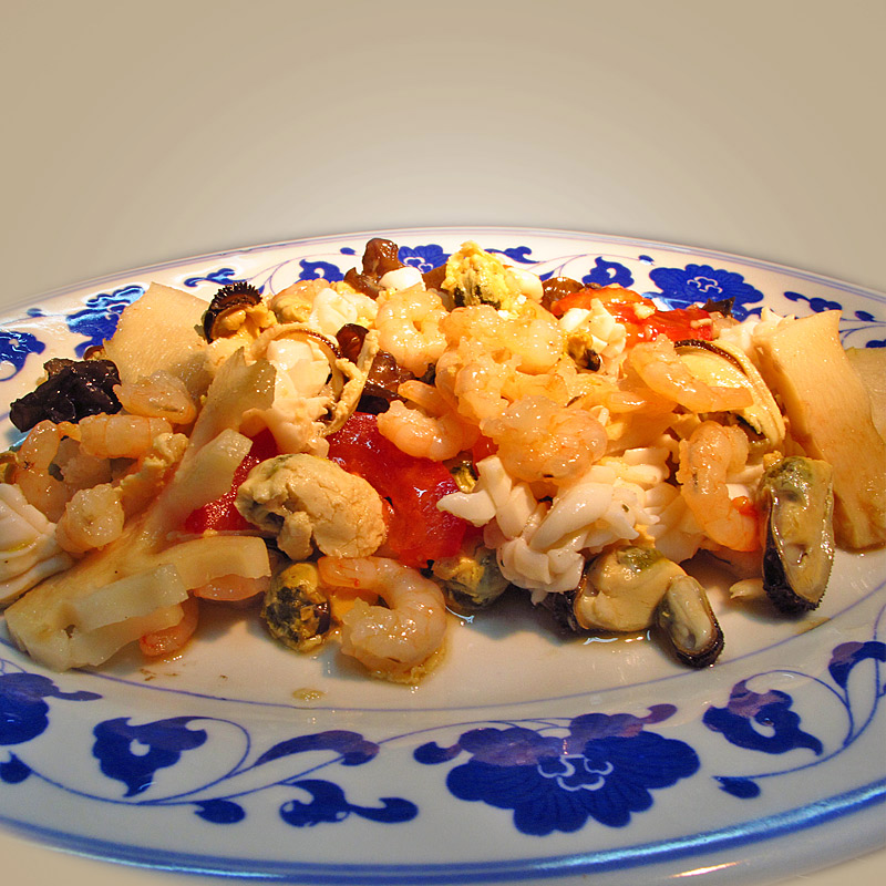 Mancare chinezeasca Salata de fructe de mare