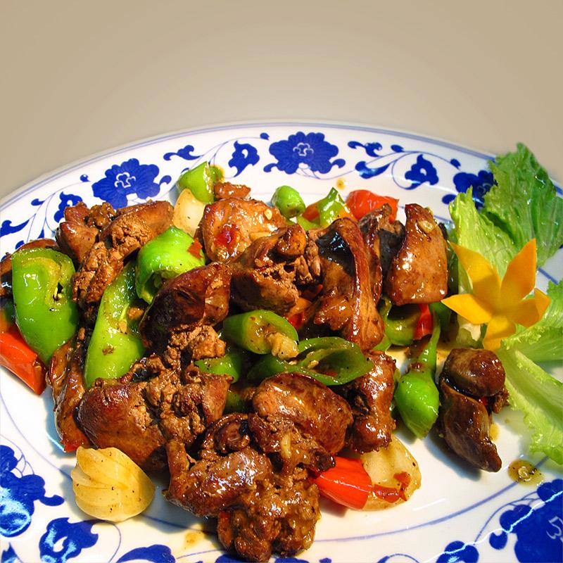 Mancare chinezeasca Ficat de pui cu ardei iute