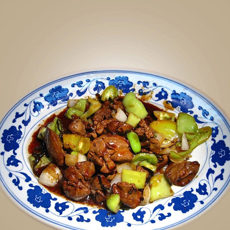 Mancare chinezeasca Ficat de pui in sos de stridie