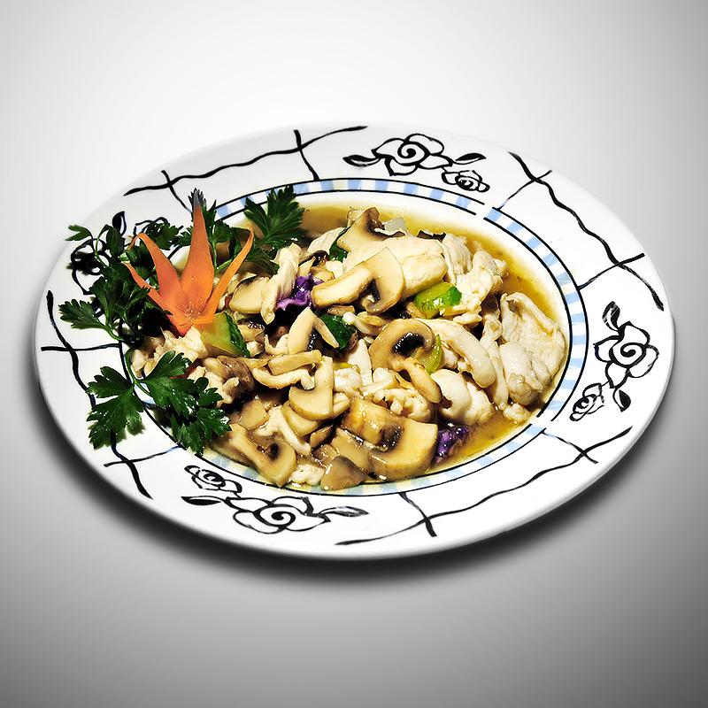 Mancare chinezeasca Pui cu ciuperci