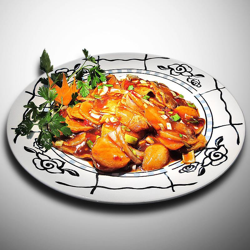Mancare chinezeasca Cartofi cu aroma de peste