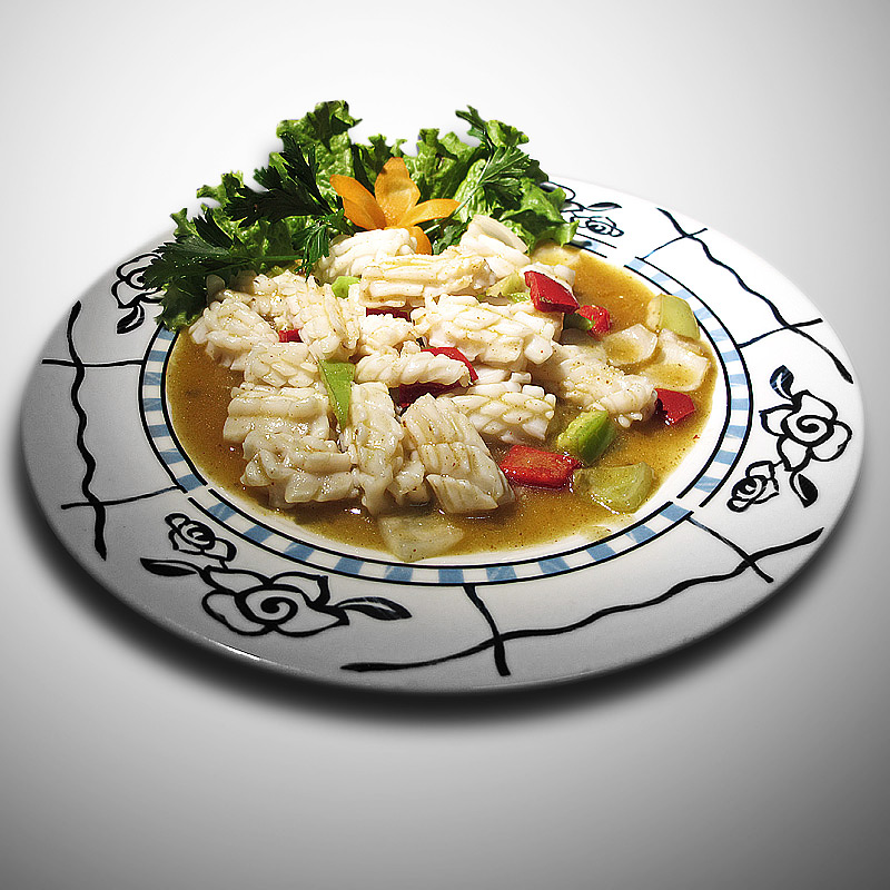 Mancare chinezeasca Calamar in sos curry