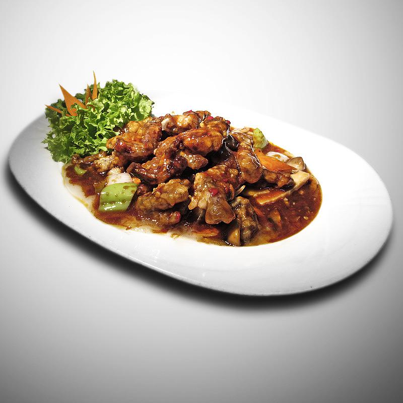 Mancare chinezeasca Pui de balta in sos Sichuan