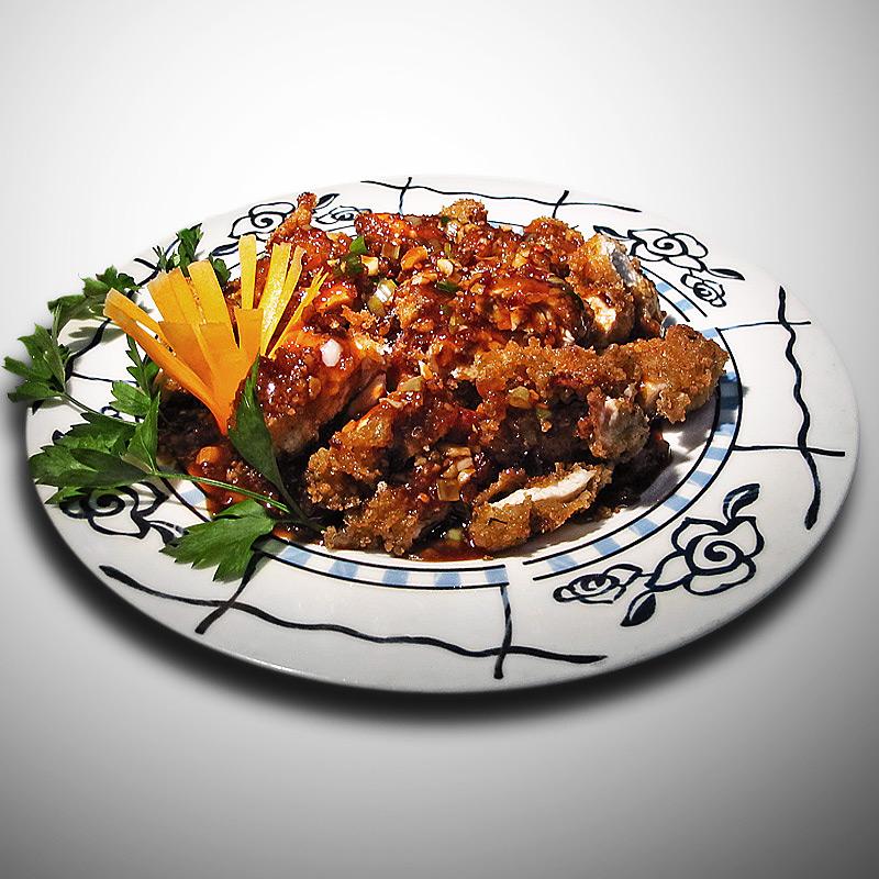 Mancare chinezeasca Pui crocant cu aroma de peste
