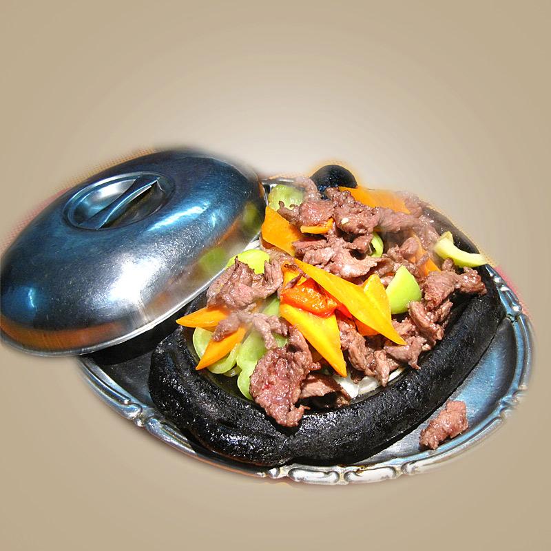 Mancare chinezeasca Porc pe plita
