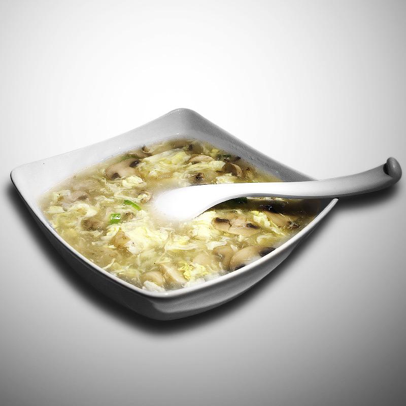 Mancare chinezeasca Supa ciuperci cu ou